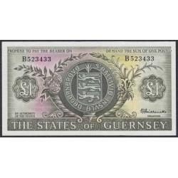 Гуренси 1 фунт 1969-75 года (GUERNSEY 1 pound 1969-75) P45a: aUNC