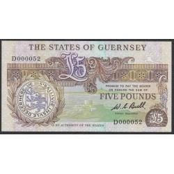 Гуренси 5 фунтов 1980-89 года (GUERNSEY 5 pounds 1980-89) P49: UNC