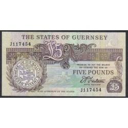 Гуренси 5 фунтов 1990-95 года (GUERNSEY 5 pounds 1990-95) P 53b: UNC