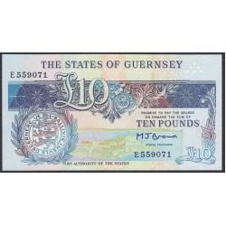 Гуренси 10 фунтов 1991-95 года (GUERNSEY 10 pounds 1991-95) P 54: UNC