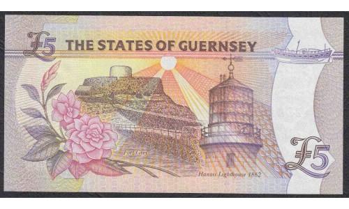 Гуренси 5 фунтов 2000 года (GUERNSEY 5 pounds 2000) P 60: UNC