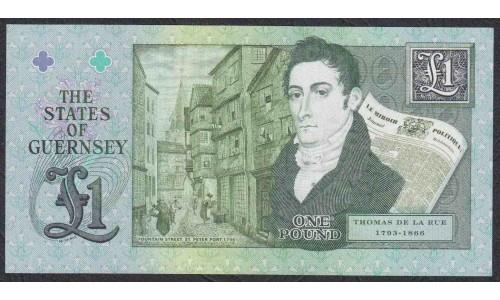 ренси 1 фунт 2013 года (GUERNSEY 1 pound 2013) P 62: UNC