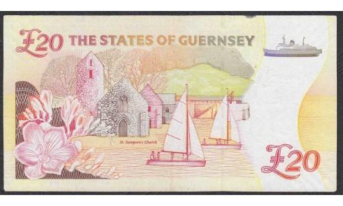 Гуренси 20 фунтов 2012 года (GUERNSEY 20 pounds 2012) P 61: XF