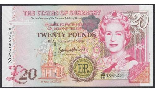 Гуренси 20 фунтов 2012 года (GUERNSEY 20 pounds 2012) P 61: UNC
