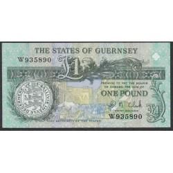 Гуренси 1 фунт 1991 года (GUERNSEY 1 pound 1991) P 52c: UNC