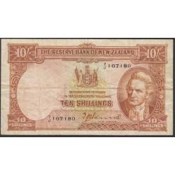 Нoвая Зеландия 10 шиллингов 1940-1955 годы (New Zealand 10 Shillings 1940-1955) P 158a: VF