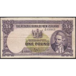 Новая Зеландия 1 фунт 1940-1955 годы (New Zealand 1 Pound 1940-1955) P 159a: VF