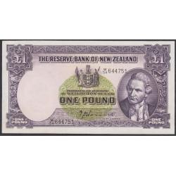 Новая Зеландия 1 фунт 1940-1955 годы (New Zealand 1 Pound 1940-1955) P 159a: aUNC
