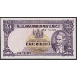 Новая Зеландия 1 фунт 1956-1960 годы (New Zealand 1 Pound 1956-1960) P 159c: VF/XF