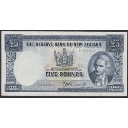 Новая Зеландия 5 фунтов 1940-1955 годы (New Zealand 5 Pounds 1940-1955) P 159a: VF
