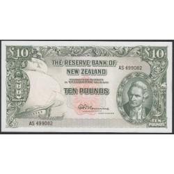 Новая Зеландия 10 фунтов 1960-1967 годы (New Zealand 10 Pounds 1960-1967) P 161d: UNC
