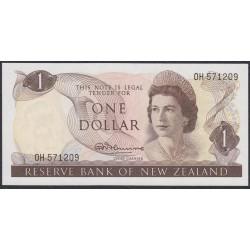 Новая Зеландия 1 доллар 1967-68 год (New Zealand 1 dollar 1967-68) P 163a: UNC