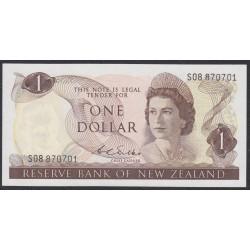Новая Зеландия 1 доллар 1968-75 год (New Zealand 1 dollar 1968-75) P 163b: UNC