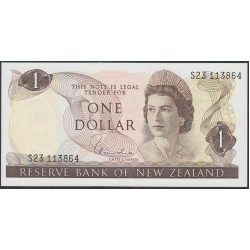 Новая Зеландия 1 доллар 1977-81 год (New Zealand 1 dollar 1977-81) P 163d: UNC