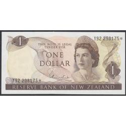 Новая Зеландия 1 доллар 1977-81 год, серия замещения (New Zealand 1 dollar 1977-81, REPLACEMENT) P 163d: UNC