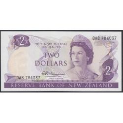 Новая Зеландия 2 доллара 1967-68 год (New Zealand 2 dollars 1967-68) P 164a: UNC