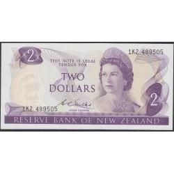 Новая Зеландия 2 доллара 1968-75 год (New Zealand 2 dollars 1968-75) P 164b: UNC