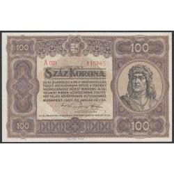 Венгрия 100 корон 1920 года (Hungary 100 korona 1920) P 63: UNC--