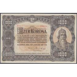Венгрия 1000 корон 1920 года (Hungary 1000 korona 1920) P 66: аUNC/UNC
