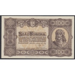 Венгрия 100 корон 1923 года (Hungary 100 korona 1923) P 73а: aUNC/UNC