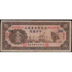 Китай коммерческий банк Чархар 1 юань 1933 год (China the Charhar commercial bank 1 yuan1933 year) :VF
