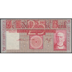 Нидерланды 25 гульденов 1941 года (NETHERLANDS 25 Gulden Nederlandsche Bank 1931-1941) P 50(2): XF