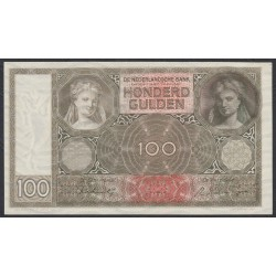 Нидерланды 100 гульденов 1944 года (NETHERLANDS 100 Gulden Nederlandsche Bank 1944) P 51c: UNC