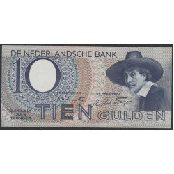 Нидерланды 10 гульденов 1944 года (NETHERLANDS 10 Gulden Nederlandsche Bank 1944) P 59: UNC