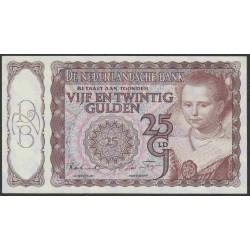 Нидерланды 25 гульденов 1944 года (NETHERLANDS 25 Gulden Nederlandsche Bank 1944) P 60: UNC--