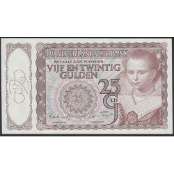 Нидерланды 25 гульденов 1943 года (NETHERLANDS 25 Gulden Nederlandsche Bank 1943) P 60: aUNC