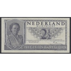 Нидерланды 2.1/2 гульден 04.02.1943 & 18.05.1945 / 08.08.1949 года (NETHERLANDS 2.1/2 Gulden Ministerie van Financiën  04.02.1943 & 18.05.1945 / 08.08.1949) P 64: XF/aUNC