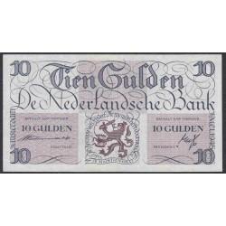Нидерланды 10 гульденов 1945 года (NETHERLANDS 10 Gulden Nederlandsche Bank 1945) P 74: XF/aUNC