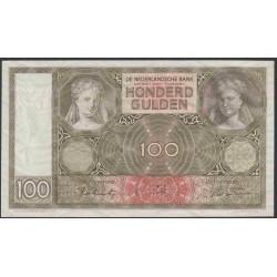 Нидерланды 100 гульденов 1942 года (NETHERLANDS 100 Gulden Nederlandsche Bank 1942) P 51c: UNC