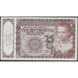 Нидерланды 25 гульденов 1944 года (NETHERLANDS 25 Gulden Nederlandsche Bank 1944) P 60: aUNC