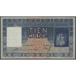 Нидерланды 10 гульденов 1936 года, РЕМБРАНТ (NETHERLANDS 10 Gulden Nederlandsche Bank 1936) P 49: VF