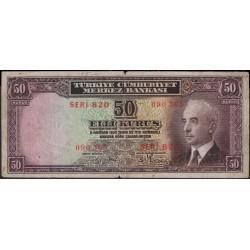 Турция 50 курус 1930 год (Turkey 50 kurus 1930 year) P 133 : F