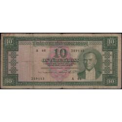 Турция 10 лир 1930 год (Turkey 10 lira 1930 year) P 161 : F