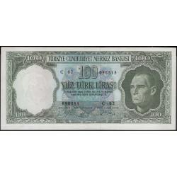 Турция 100 лир 1930 год (Turkey 100 lira 1930 year) P 177a : XF