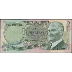 Турция 10 лир 1930 (1966) год (Turkey 10 lira 1930 (1966) year) P 180 : Unc