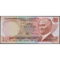 Турция 20 лир 1930 (1966) год (Turkey 20 lira 1930 (1966) year) P 181b : Unc