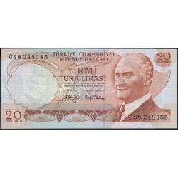 Турция 20 лир 1970 (1974) год (Turkey 20 lira 1970 (1974) year) P 187a : Unc