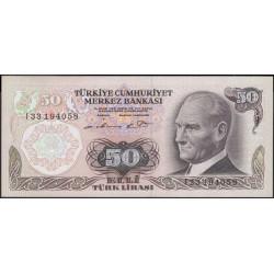 Турция 50 лир 1970 (1976) год (Turkey 50 lira 1970 (1976) year) P 188(1) : Unc