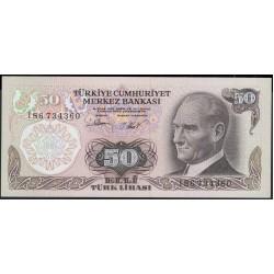 Турция 50 лир 1970 (1976) год (Turkey 50 lira 1970 (1976) year) P 188(2) : Unc