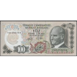 Турция 100 лир 1970 (1979) год (Turkey 100 lira 1970 (1979) year) P 189(2) : Unc