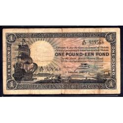 ЮАР 1 фунт 1937 г. (SOUTH AFRICA 1 pound 1937 g.) P84c:VF