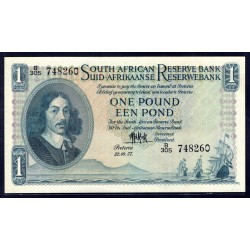 ЮАР 1 фунт 1957 г. (SOUTH AFRICA 1 pound 1957 g.) P92d:Unc