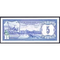 Нидерландские Антильские Острова 5 гульден 1984 г. (NETHERLANDS ANTILLES 5 Gulden 1984) P15b:Unc