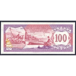 Нидерландские Антильские Острова 100 гульден 1981 г. (NETHERLANDS ANTILLES 100 Gulden 1981) P19:Unc