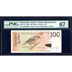 Нидерландские Антильские Острова 100 гульден 2008 г. (NETHERLANDS ANTILLES 100 Gulden 2008) P31е:67 greid slab