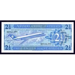 Нидерландские Антильские Острова 2 1/2 гульдена 1970 г. (NETHERLANDS ANTILLES  2½ Gulden 1970) P21:Unc